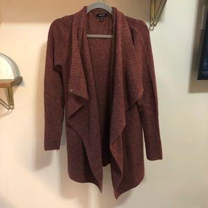 Burnt orange cardigan / poncho